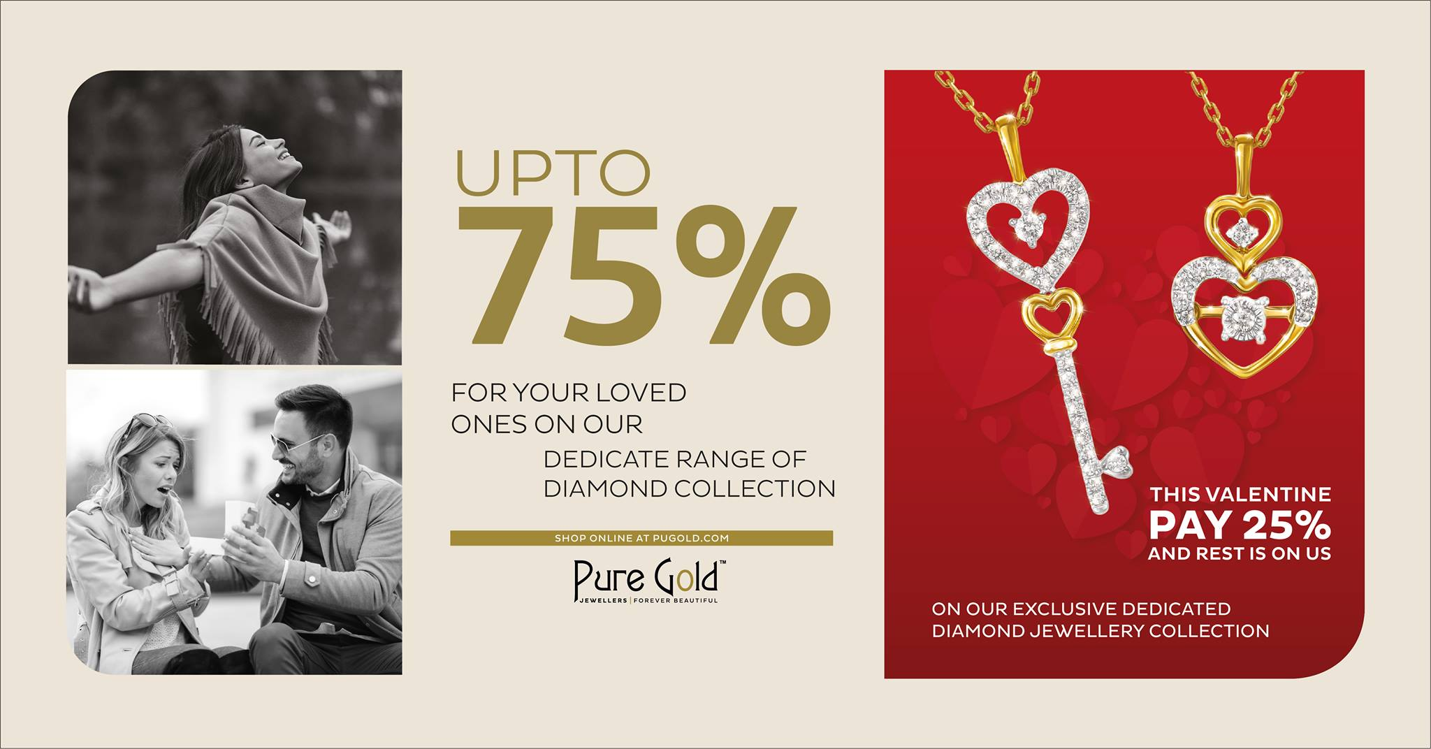 Pure Gold Jewellers Valentine's day offers - Dubaisavers
