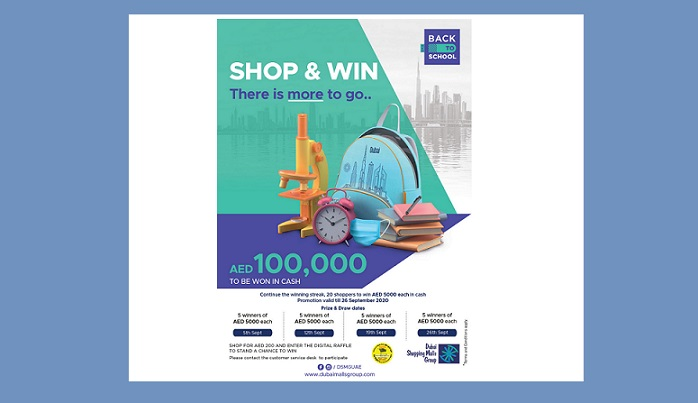 Dubai Shopping Malls group extends Back to School Promotion - Dubaisavers