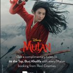 Reel Cinemas offers free tickets to At the Top, Burj Khalifa with Disney's Mulan - Dubaisavers