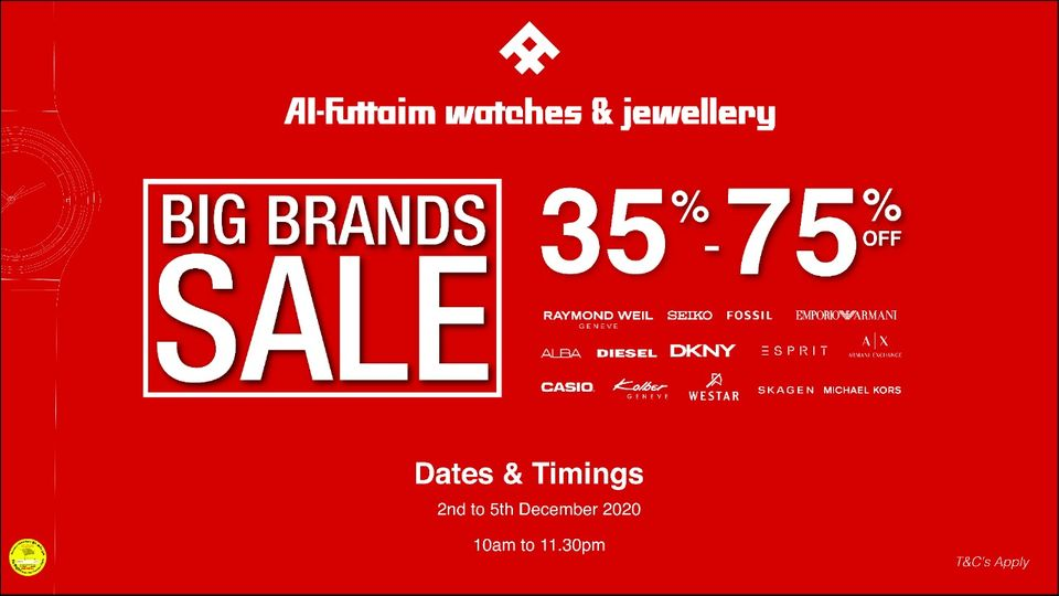 Al Futtaim Watches & Jewellery Big Brands Sale - Dubaisavers
