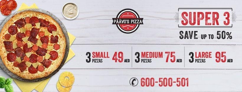 Paavo's Pizza Tuesday Offer - Dubaisavers