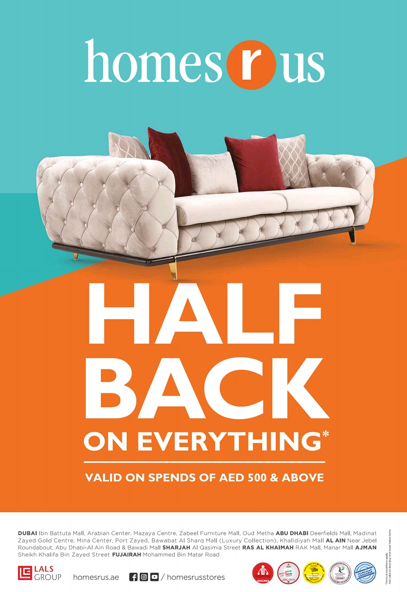 Homes r Us Half Back Promotion - Dubaisavers