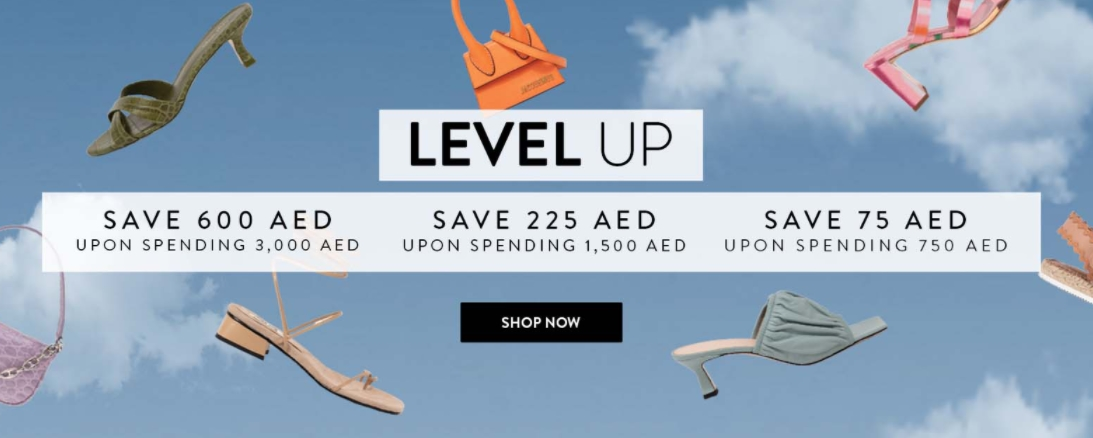 Level Shoes Spend and Save offer - Dubaisavers