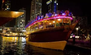 Marina Dhow Cruise with Dinner, Soft Beverages with Kyka Group - Dubaisavers