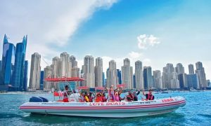 90-Minute Sightseeing Speedboat Cruise for Up to 11 at Love Boats UAE - Dubaisavers