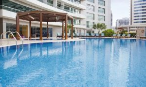 Pool Access at Waves Pool Lounge @ Time Oak Hotel Barsha Heights - Dubaisavers