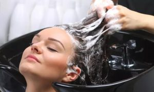 Straight Hair: Wash and Blow-Dry with Optional Cut or Colour at Alexander Style Beauty Salon - Dubaisavers
