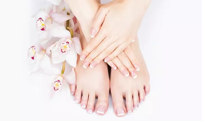 Classic or Gelish Manicure and Pedicure or Nail Extensions at Billionaire Style Beauty Salon - Dubaisavers