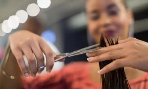 Wash, Cut and Blow-Dry with Optional Deep Condition, Hot Oil Treatment, or Colouring at Sadaf Beauty Ladies Salon - Dubaisavers