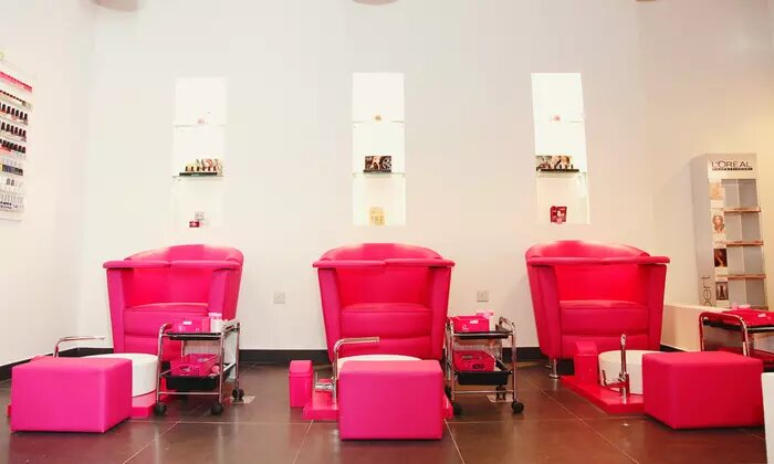Body Scrub with Optional Body Wrap and Classic Mani-Pedi at Blo Out Beauty Bar - Dubaisavers