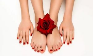 Gel Polish Removal, Choice of Mani-Pedi or Nail Extensions at Manuella Ladies Beauty Salon - Dubaisavers