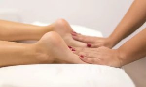 30- or 60-Minute Foot Reflexology with Optional Foot Scrub for Women at Soni's Salon for Women - Dubaisavers