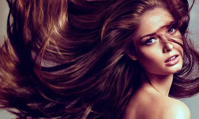 Wash and Blow-Dry with Cut or Roots Touch-Up, or Keratin Treatment at Marjan Beauty Saloon - Dubaisavers