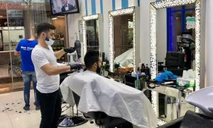 Choice of Haircut or Hair Style or Beard Shave with Treatment at Blue Style Salon for Men - Dubaisavers
