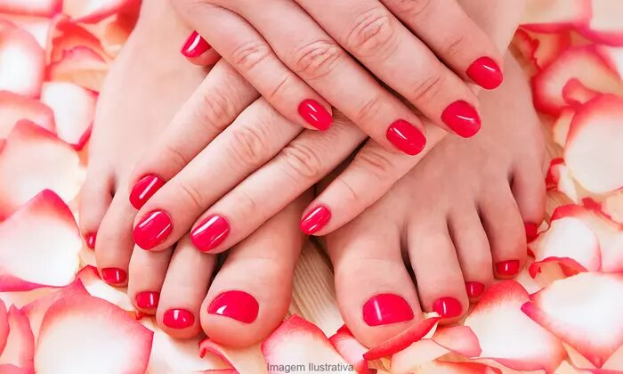 Choice of Classic or Gelish Manicure and Pedicure Bundle, or Nail Extensions at iSpa - Dubaisavers