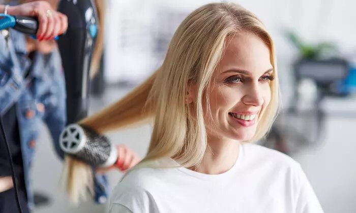 Hair Wash and Blow-Dry with Optional Quick Dry or Organic Hair Treatment at Smart Wellness Organic Beauty Lounge - Dubaisavers
