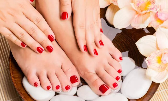 Choice of Mani-Pedi Package or Acrylic Nail Extensions with Polish at Beauty Perfection Ladies Salon - Dubaisavers