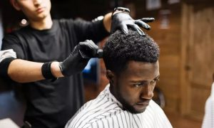 Haircut with Optional Shave or Mani and Pedi at Cutting Edge Hair Lounge For Men, Two Locations - Dubaisavers
