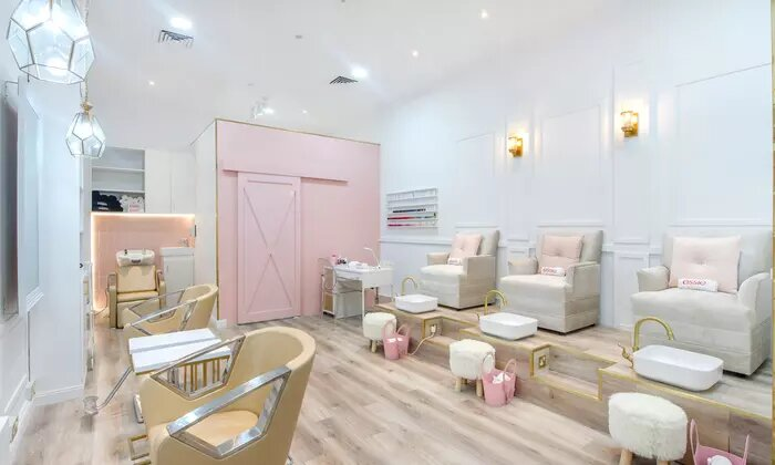 Classic, French or Gelish Manicure and Pedicure, or Acrylic or Gelish Nail Extensions at File and Style Beauty Salon - Dubaisavers