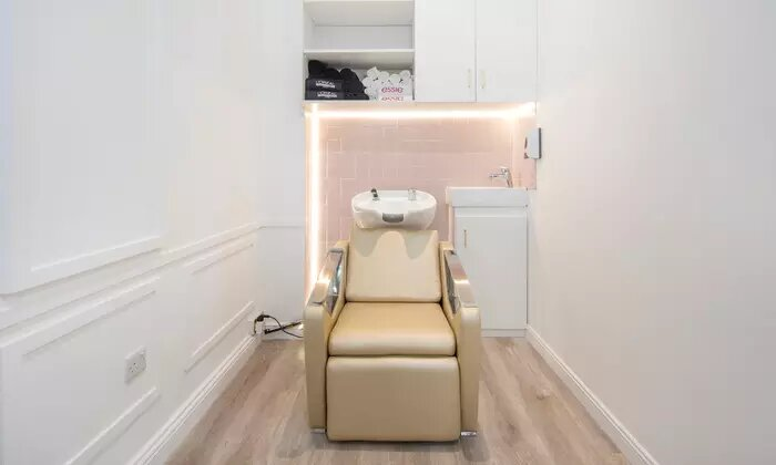 Keratin or Smoothening Treatment with Optional Cut, Eyebrow Shape and Mani-Pedi at File and Style Beauty Salon - Dubaisavers