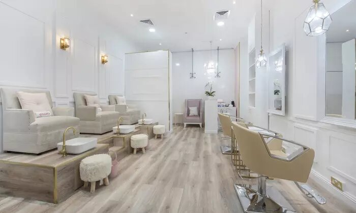 Eyelash Lift and Tint with Optional Manicure and Pedicure at File and Style Beauty Salon - Dubaisavers