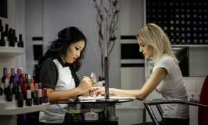 Classic or Gelish Mani-Pedi, or Acrylic Nail Extensions with Gelish Manicure at Black and White DMCC - Dubaisavers