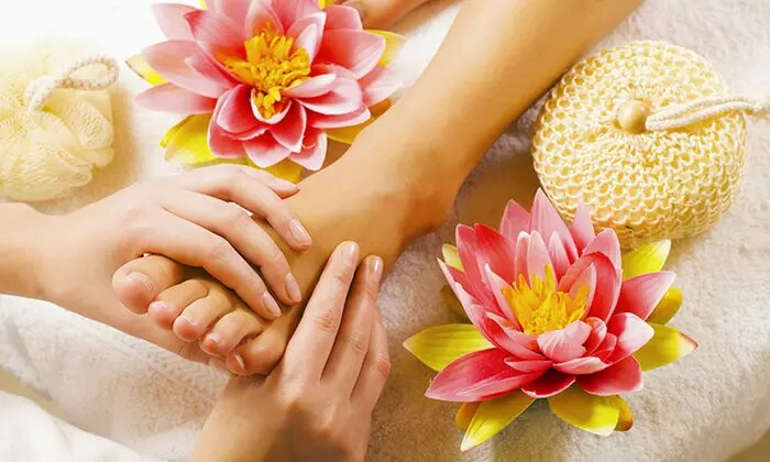 45- or 30-Minute Reflexology with Optional Manicure, Pedicure or Both at Sweet Lily Beauty Salon - Dubaisavers
