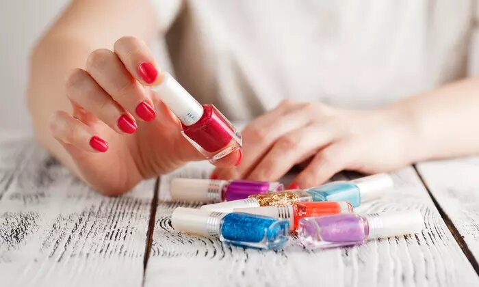 Classic or Gelish Mani-Pedi, or Nail Extensions with Choice of Manicure at Glare Beauty Salon - Dubaisavers