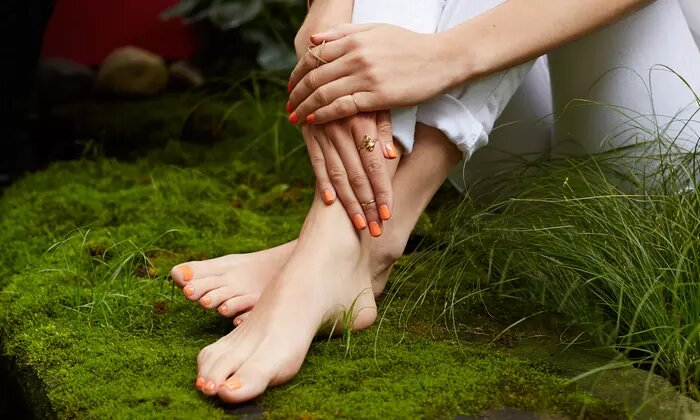 Classic or Gelish Manicure and Pedicure at Aurora Beauty Centre - Dubaisavers