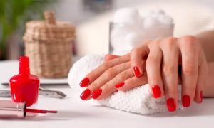 Polish for Hands and Feet, or Classic or Gel Manicure and Pedicure at Cutting Edge Ladies Salon - Dubaisavers