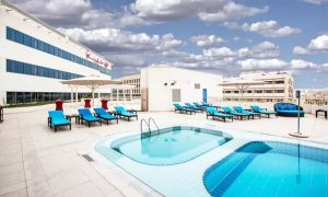 Pool Access with Optional Food & Beverage Credit at Swimming Pool at  Crowne Plaza Deira - Dubai - Dubaisavers