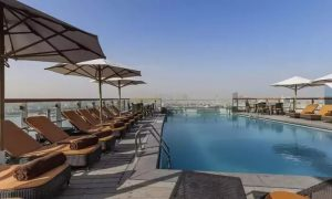 Pool Access with Optional Food and Drinks Voucher at The Edge at  Hilton Dubai Creek - Dubaisavers