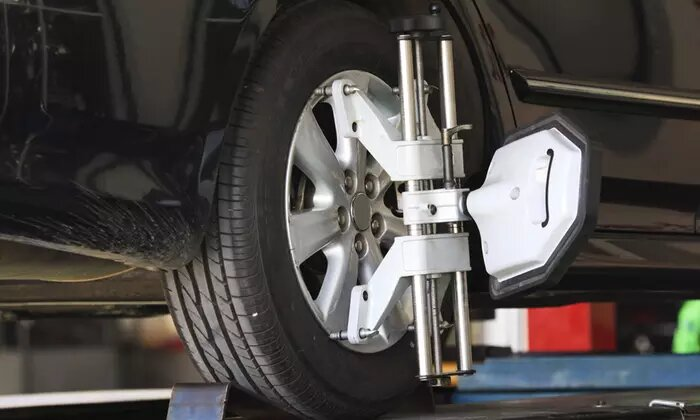 Wheel Alignment, Air Pressure Check and Tyre Cleaning at Manchester Tyre Trading Clinic - Dubaisavers
