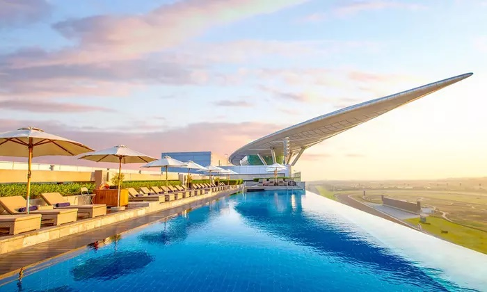 Pool Access with Optional Food and Drink Voucher for Up to Eight at 5* Meydan Hotel, Dubai - Dubaisavers