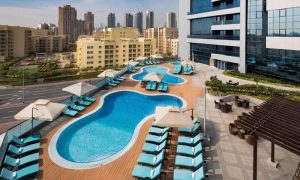 Pool Access with Optional Food and Drinks Voucher for Child or Up to Six Adults at 4* Millennium Place, Barsha Heights - Dubaisavers