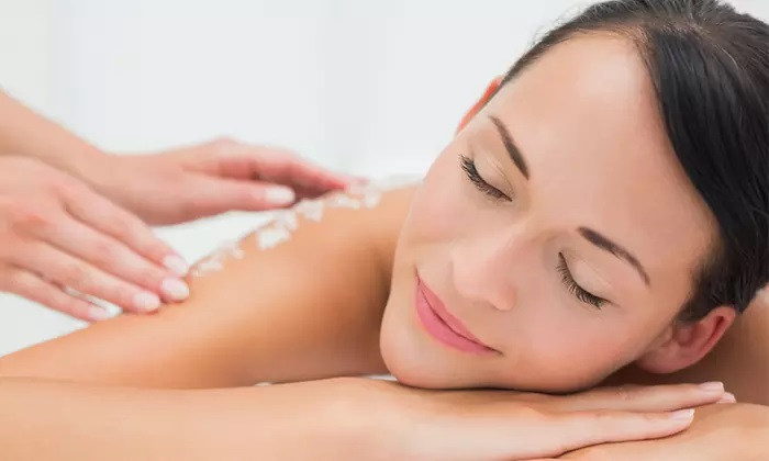 Body Scrub and Wrap with Optional Swedish Spa Treatment, Blow-Dry, or Both at Sweet Lily Beauty Salon - Dubaisavers