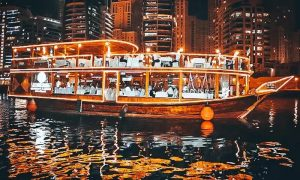 Sunset Marina Evening Cruise with Buffet for Up to Six at Travel Guide Tourism - Dubaisavers