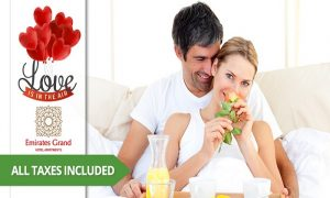 Romantic Stay with Dinner from Emirates Grand Hotel Apartment - Dubaisavers