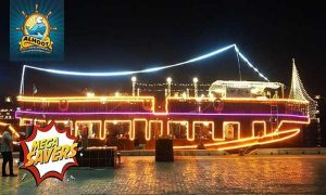 Sunset Creek Dhow Cruise with Dinner buffet by Al Hoot Floating Restaurant - Dubaisavers