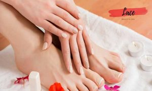 Classic and Gelish Manicure and Pedicure from Lace Ladies Beauty Salon - Dubaisavers