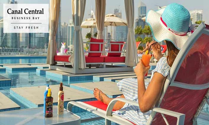 Pool Access + AED 50 F&B Voucher at Canal Central Hotel - Dubaisavers