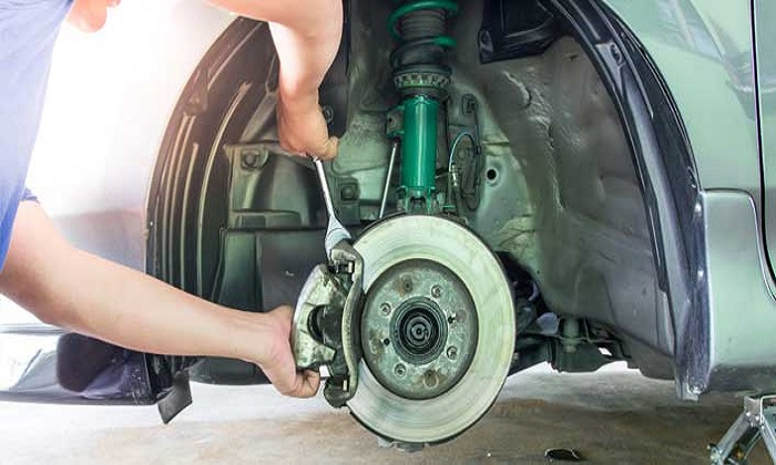 Brake Pad Replacement + Disc Machining from Classic Tyre Trading - Dubaisavers