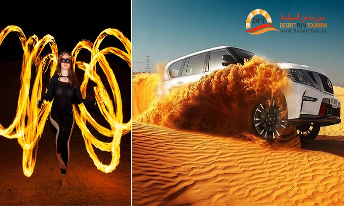 Luxury Evening Desert Safari in Land Cruiser by Desert Fun Tourism LLC - Dubaisavers