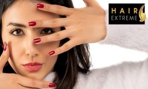 Classic or Gelish Manicure and Pedicure from Hair Extreme Beauty Saloon - Dubaisavers