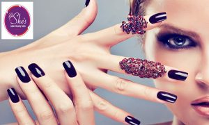 Classic and Gelish  manicure and pedicure at She's Ladies Beauty Salon - Dubaisavers