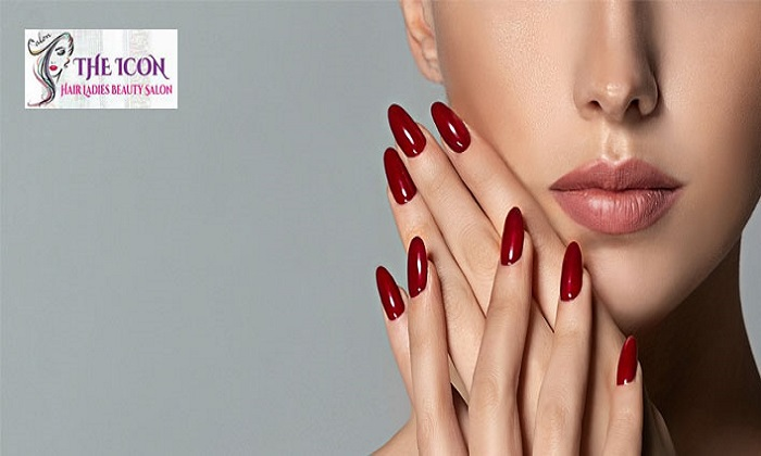 Manicure and Pedicure at The Icon Hair Ladies Beauty Salon - Dubaisavers
