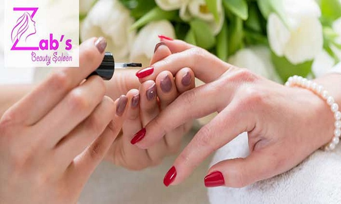 Manicure, Pedicure and Nail Extensions at Zab's Beauty Saloon - Dubaisavers