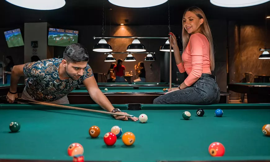 Two Hours of Billiards with Food PC Gaming with Food at Golden Hall - Dubaisavers