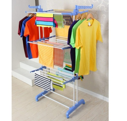 SKY TOUCH Carbon Steel Full Size 3 Layer Cloth Drying Stand - Dubaisavers