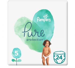 Pampers Pure Protection Diapres Size 5 +11 Kg 24 count - Dubaisavers